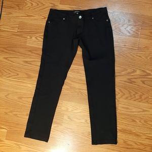 Juniors black skinny Jeans size XL